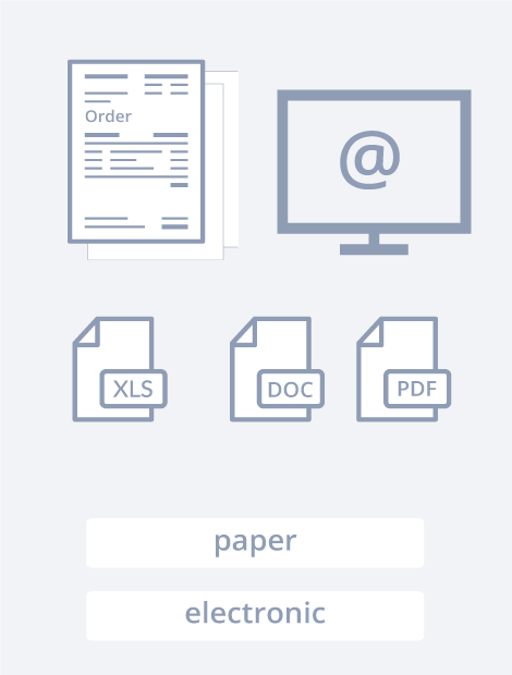 "The Purchase Order Capture Solution has a process consisting of 4 steps. Step 1 is ""Import"". In this step all your invoices are imported via scans, fax, emails, SFTP, your ERP, etc."